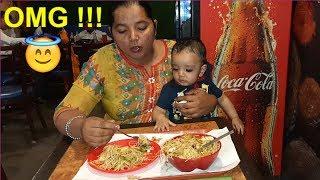 OMG!!! TABAHI IN RESTAURANT | EKAM EATING NOODLES | BURGER | MOMOS
