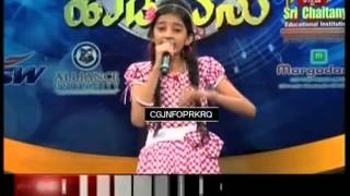 Sunidhi G Performance in Yede Thumbi Haduvenu 2015 Semifinal Round  Sixth Song - Yen Chanda