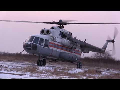 Вертолёт МЧС доставил в Хабаровск мальчика, пострадавшего на пожаре в Солнечном районе
