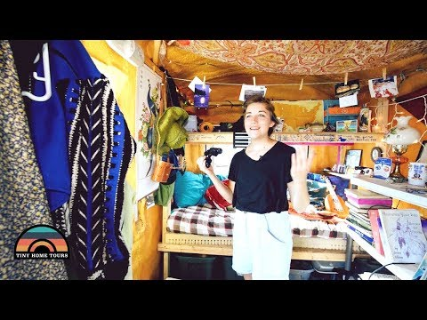 She Graduated High School & Moved To Alaska To Live In A Fish House Tiny Home