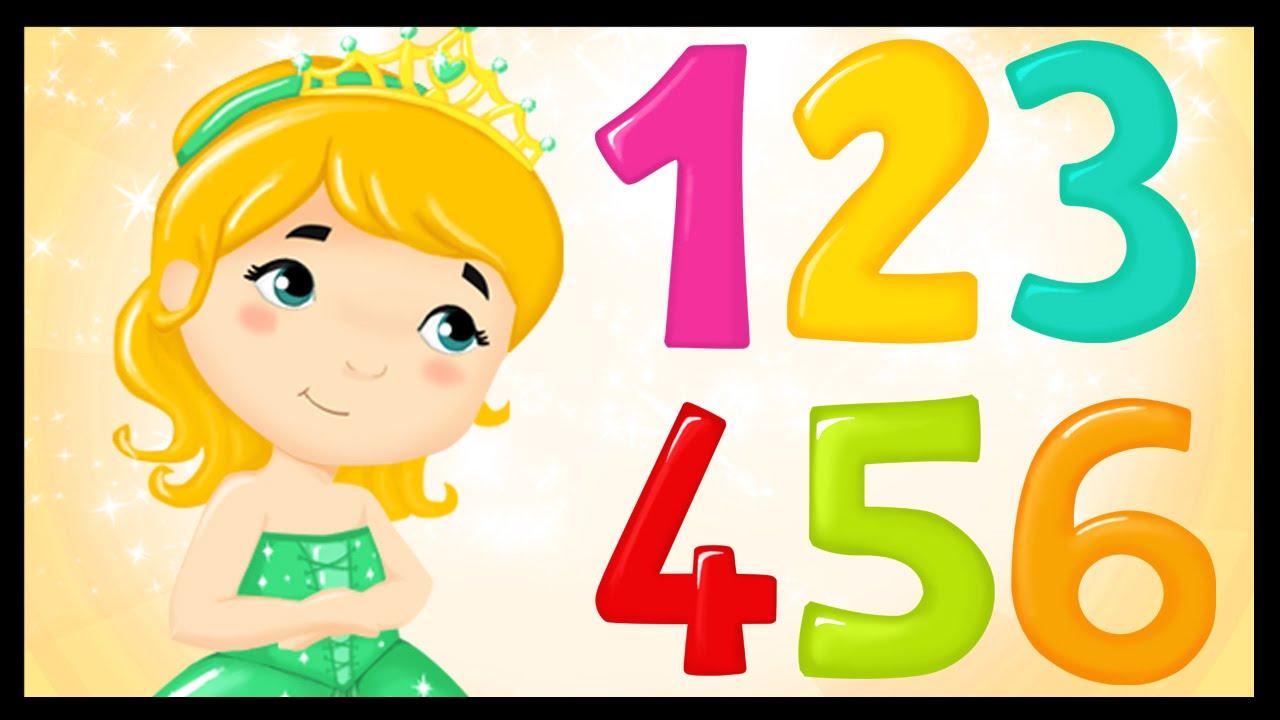la chanson des chiffres apprendre les chiffres avec les princesses youtube. Black Bedroom Furniture Sets. Home Design Ideas