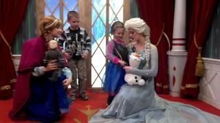 Aiden and Maya meeting Elsa and Anna