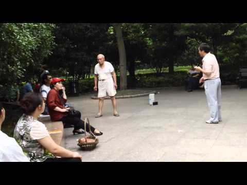 Chinese Karaoke in Huai Hai Park, Shanghai