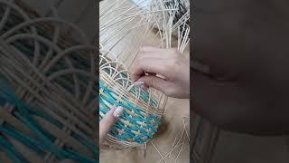 잠실한국문화센터 라탄공예 조명 갓 만들기 마무리 작업