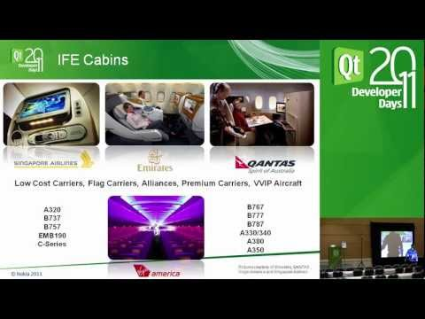 Qt DevDays 2011, Panasonic Avionics - In-Flight Entertainment, Connecting business