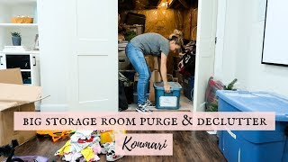 DECLUTTER AND ORGANIZE | BASEMENT STORAGE ROOM | KONMARI