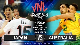Japan vs Australia | Highlights Men's VNL 2019