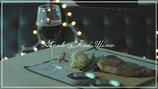 Steak & Red Wine ASMR   KEEMI
