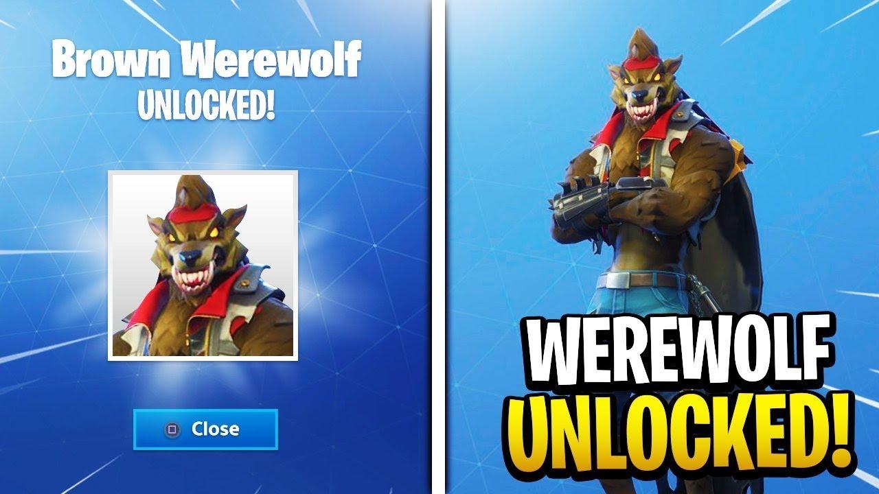 world s first brown werewolf skin unlocked stage 3 dire max battle pass skin fortnite gameplay - dire werewolf fortnite