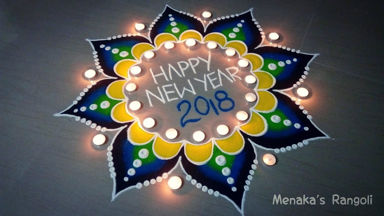 Happy New Year Rangoli 11