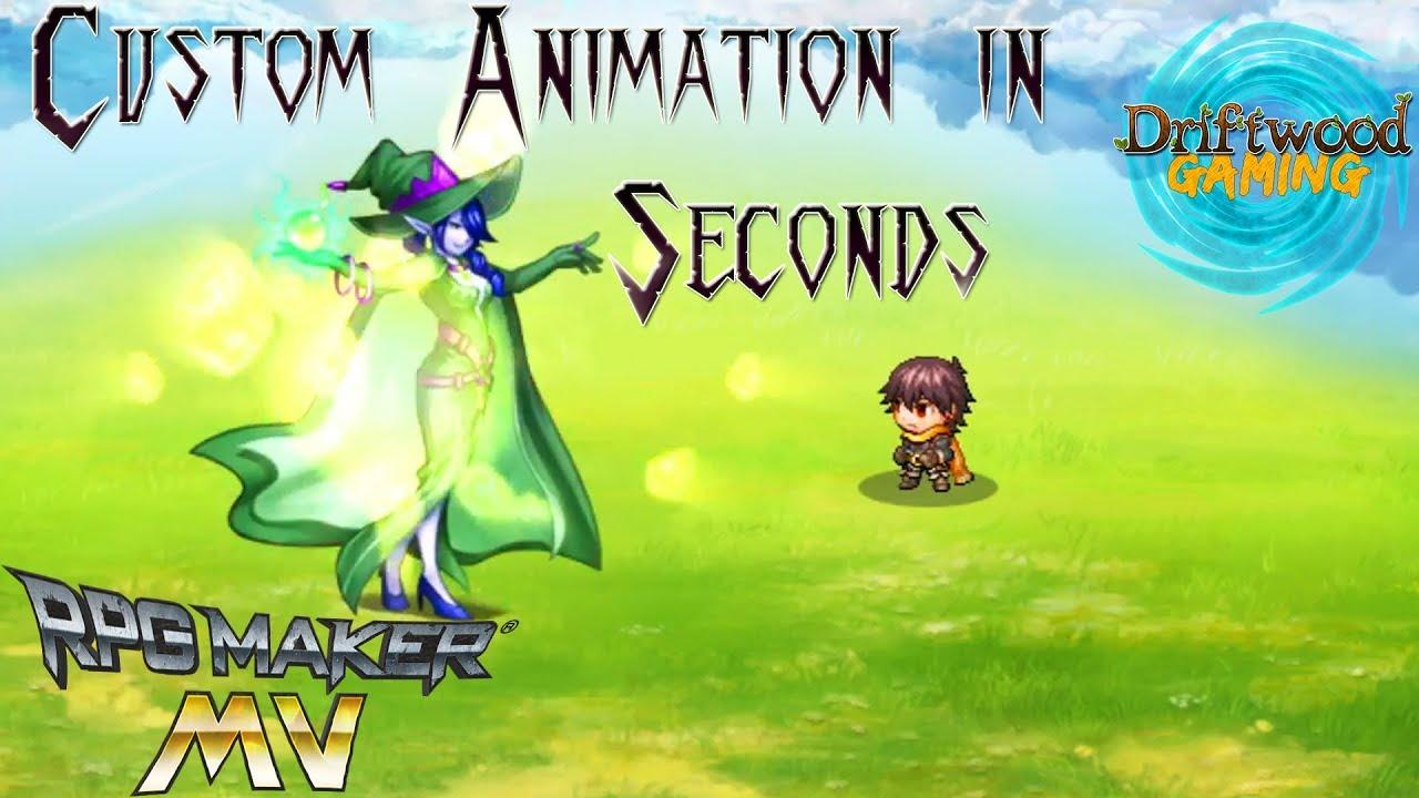 Create Custom Animations in Seconds - RPG Maker MV Tutorial - RPGMMV RMMV  Tut