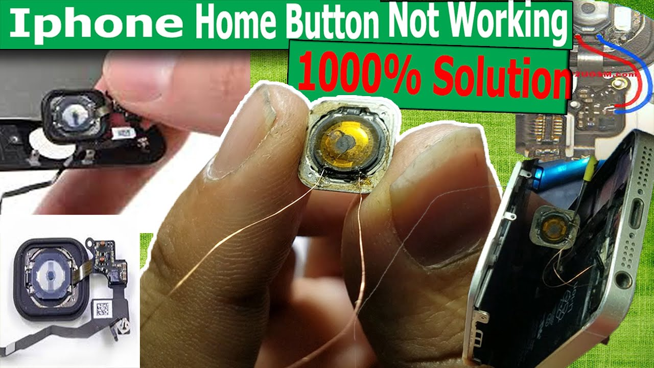 Iphone 5s Home Button Not Working Iphone 5s Home Button Solution Iphone Home Button Jumper Youtube