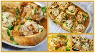 Chinese Stuffed Tofu With Meatballs 酿豆腐