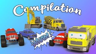 Compilation for Kids | Monster Trucks for Children | Building Machines | Trucks Cartoon for Kids