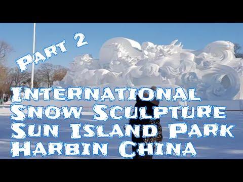International Snow Sculpture Art Expo. Sun Island Park, Harbin China. Part 2