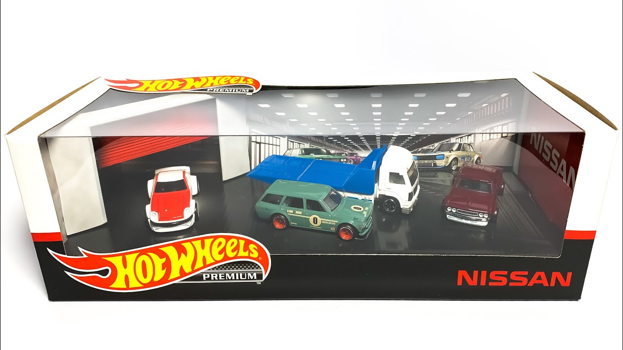 FRESH Excellent Condition 2020 Hot Wheels Premium NISSAN Garage Set BOX ONLY