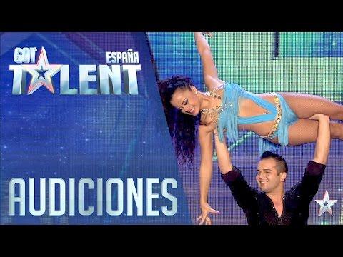 La Bachata Con Acrobacias De Alba Y Luis | Audiciones 5 | Got Talent España 2016