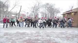 Флешмоб в Москве Нормальный Новогодний танцевальный флэшмоб(больше видео flashmob.name)(больше видео flashmob.name., 2014-05-02T11:24:55.000Z)