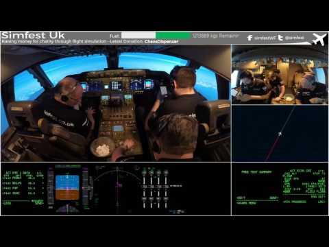 Worldflight 2016: Leg 18 Natal to Cape Verde pt 2 Simfest Boeing 747-400 Home Simulator