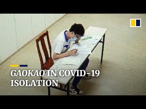 Chinese students with Covid-19 take university entrance exam in hospital isolation ward