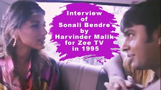 Interview of Sonali Bendre by Harvinder Malik for Zee TV in 1995