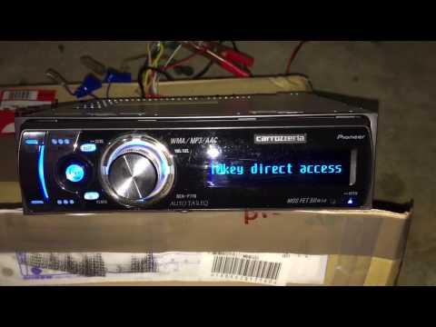 Carrozzeria single din DSP MP3 AAC WAV WMA AUX PLAYER DEH-P710