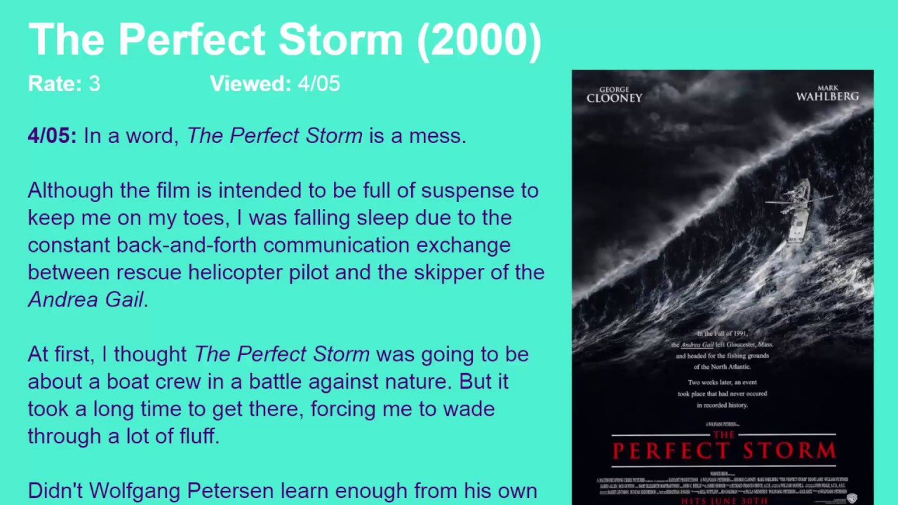 Movie Review The Perfect Storm 2000 Hd Youtube