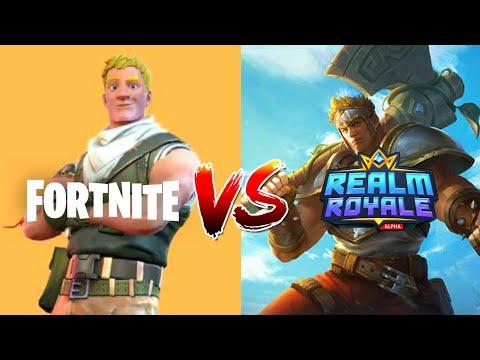 Fortnite VS Realm Royale   COMPARISON   (In Depth) 2019