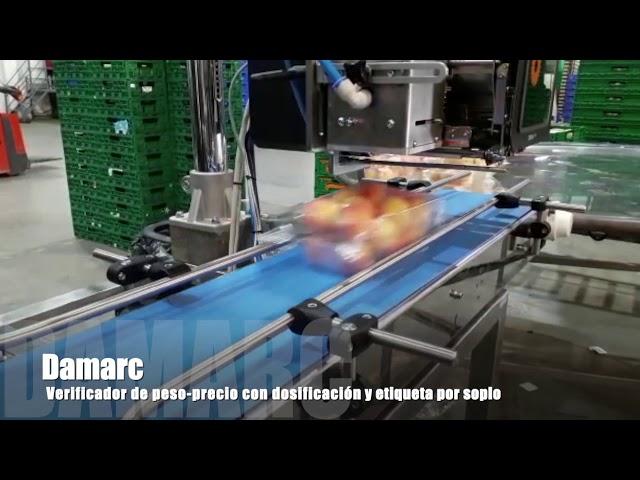 Máquina Verificadora de Peso- Precio con Etiqueta por Soplo Damarc | Maquinaria Prepacking