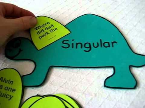 Grade 1 - Language, spelling: Singular and Plural dinosaurs foam ...