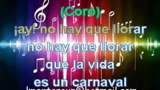 karaoke LMEnt - LA VIDA ES UN CARNAVAL - CELIA CRUZ