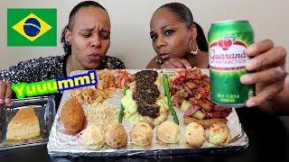 Baixar Americans Try Brazilian Food Mukbang, Pao de Queijo, Yucca Flour, Picanha and more!