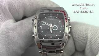 Мужские японские наручные часы Casio Edifice EFA-122D-1A(Подробное описание: http://www.alltime.ru/catalog/watch/374/casio-edifice/Man/9162/detail.php?ID=58641&back=list., 2013-08-15T09:39:38.000Z)