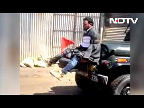 Protester Tied To Army Jeep 'For Defence' In Kashmir Video That Is Viral