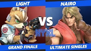 Smash Ultimate Tournament - Light (Fox) Vs. NRG | Nairo (Palutena, Ken, Incineroar) NYXL SSBU GF