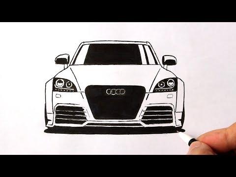 Как нарисовать машину Ауди | Audi рисунок