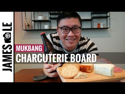 How to Make a Charcuterie Board/Cheese Board MUKBANG