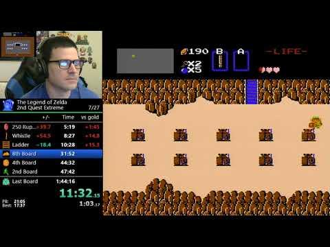 (1:40:59) The Legend of Zelda - 2nd Quest Extreme Challenge