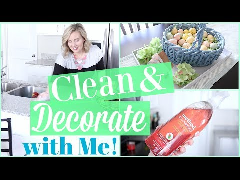 CLEAN & DECORATE WITH ME FOR SPRING\EASTER 2018!! SPRING ROOM DECOR