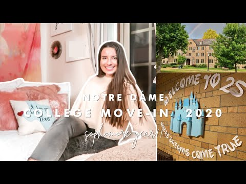 University of Notre Dame COLLEGE MOVE IN VLOG 2020 (sophomore year)