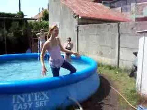 Livinia Nixon Jumping Into A Pool Funnydog Tv