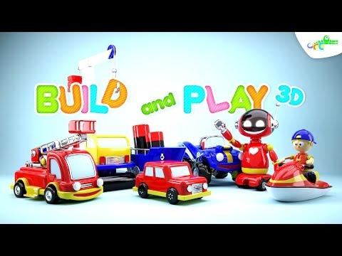 เกมส์ประกอบรถ-หุ่นยนต์-รถดับเพลิง-รถไฟ-รถยก-วีดีโอสำหรับเด็ก