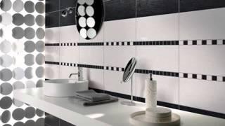 Черно белая ванная комната  полосатые, шахматные и другие идеи