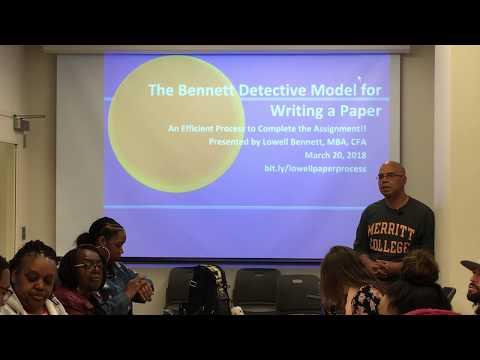 Easy Essay Writing Workshop w/Lowell Bennett at Merritt College Learning Center