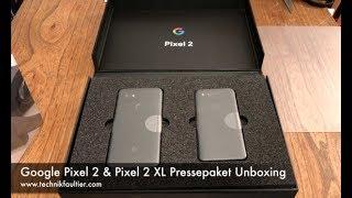 Google Pixel 2 & Pixel 2 XL Pressepaket Unboxing