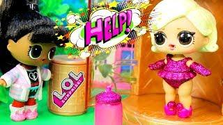 СЕМЕЙКА Куклы ЛОЛ! Красивая девочка в золотой капсуле LOL HAIRGOALS dolls | Мультики для детей