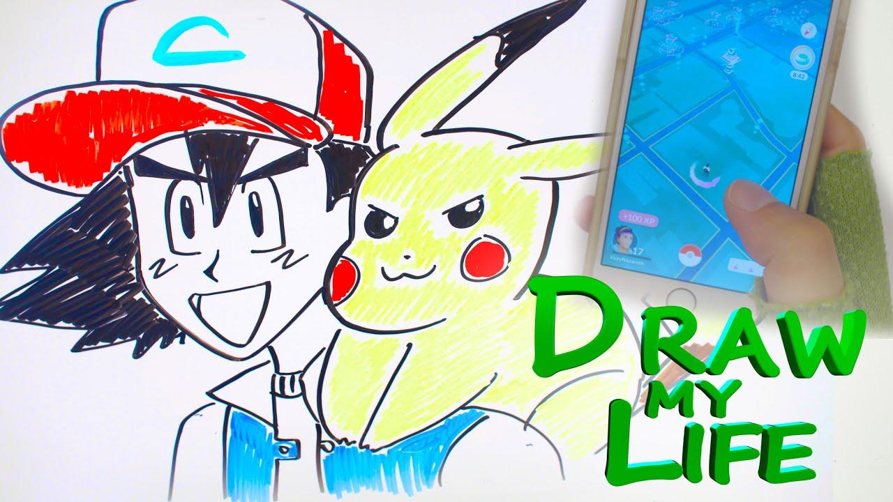 draw my life ash pokemon youtube