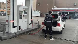 Заправка автомобиля на метановой стании Форново Газ