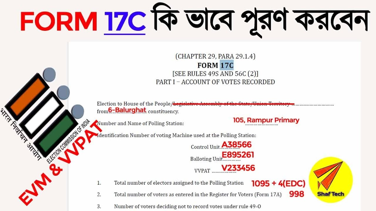 FORM 17C Account OF Voters Recorded election
