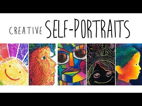 Art Classes com: Creative Self Portrait Class for KIDS!
